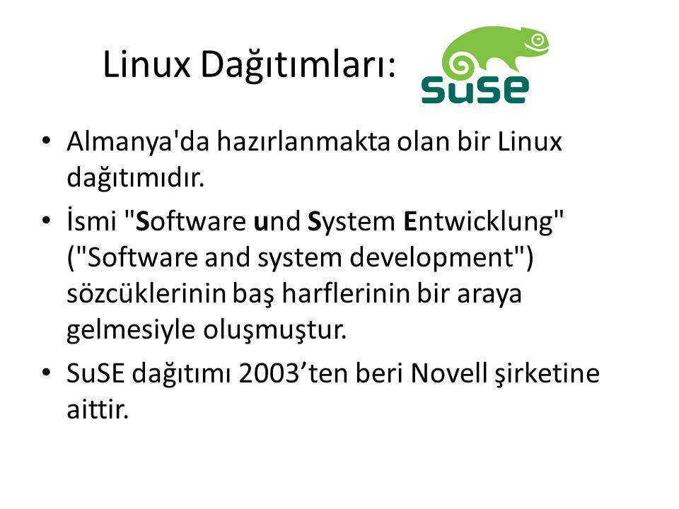 Linux Dağıtımları: Almanya'da hazırlanmakta olan bir Linux dağıtımıdır. İsmi