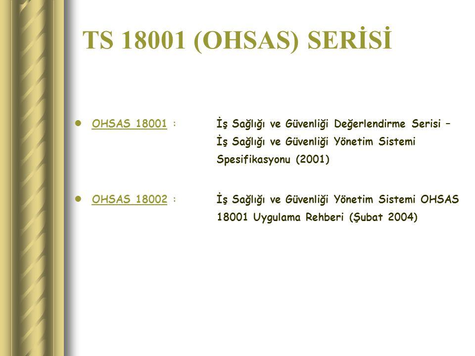 TS 18001:2008 İŞ SAĞLIĞI VE GÜVENLİĞİ YÖNETİM SİSTEMİ
