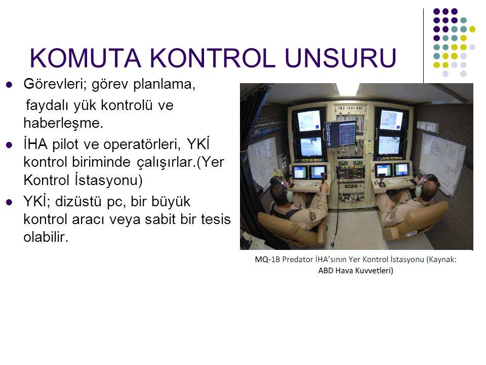 KOMUTA KONTROL UNSURU Görevleri; görev planlama, faydalı yük kontrolü ve haberleşme.