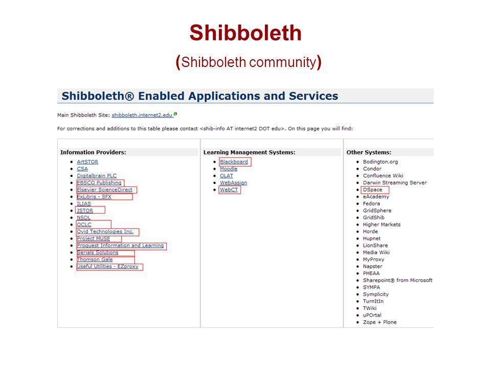 Shibboleth ( Shibboleth community )