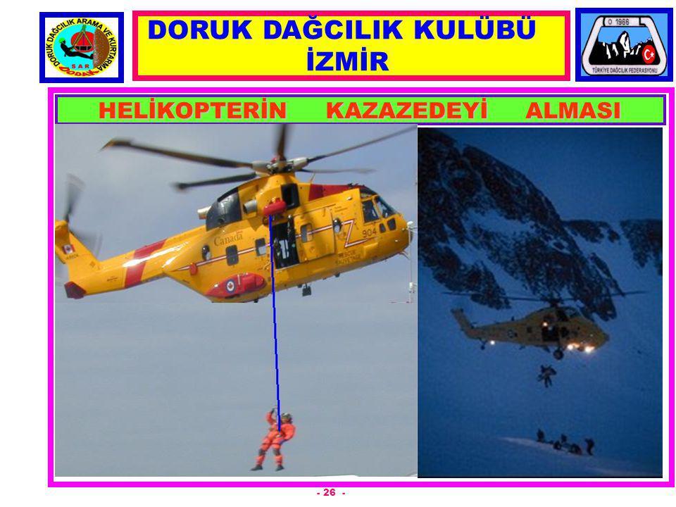HELİKOPTERİN KAZAZEDEYİ ALMASI - 26 - DORUK DAĞCILIK KULÜBÜ İZMİR