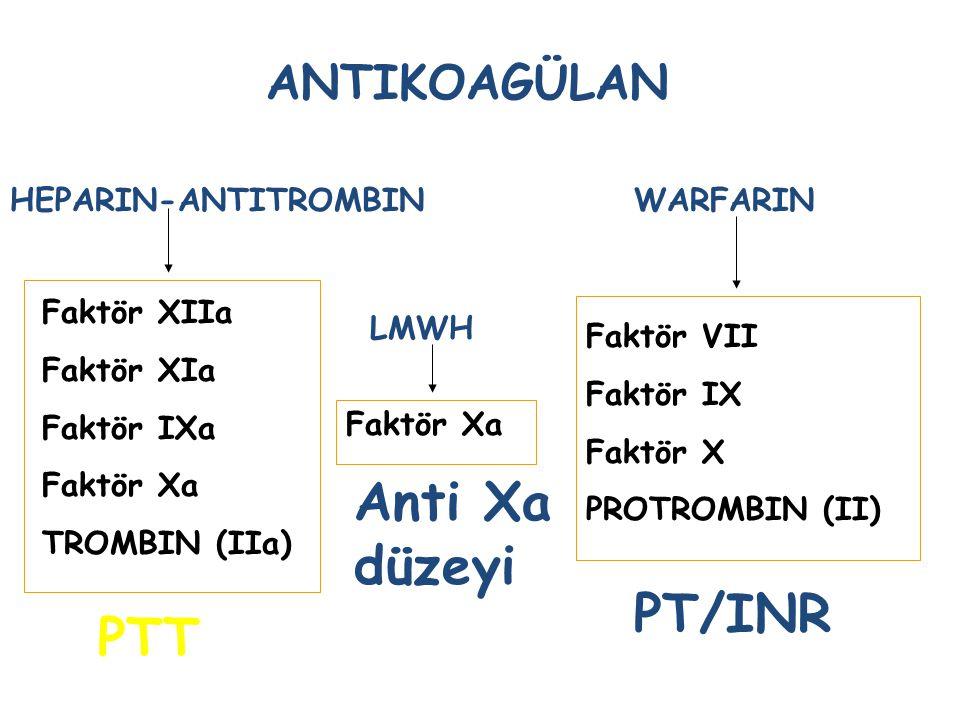 VENÖZ TROMBOEMBOLISM tedavi Heparin Heparin-düşük moleküler ağırlıklı Trombolitik-doku plasminojen aktivatörü trombolizis Oral antikoagülan-warfarin D
