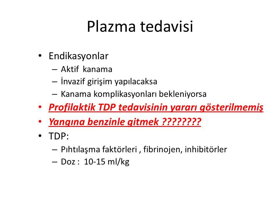 tedavi Tetikleyici faktörü durdurmak – Kanıtlanmış tek tedavi Destek tedavisi Spesifik bir tedavi yok – Plazma ve trombosit süsp – Antikoagülanlar – F