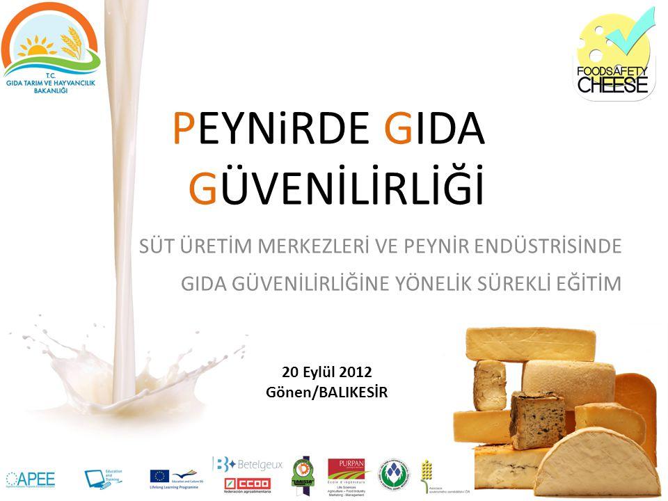 Peynirde Gıda Güvenilirliği Projesi Avrupa Birliği Leonardo da Vinci Eğitim Programı Yenilik Transferi Projesi -Mesleki eğitim ve öğretimi geliştirmek ve teşvik etmek, -Hedef kitle ya da sektör için yenilikçi eğitim araçlarını ve imkanlarını kazandırmak, -Sektörlerin rekabet gücünün artmasına katkıda bulunacak yöntemlerin geliştirilmesine destek sağlamak.