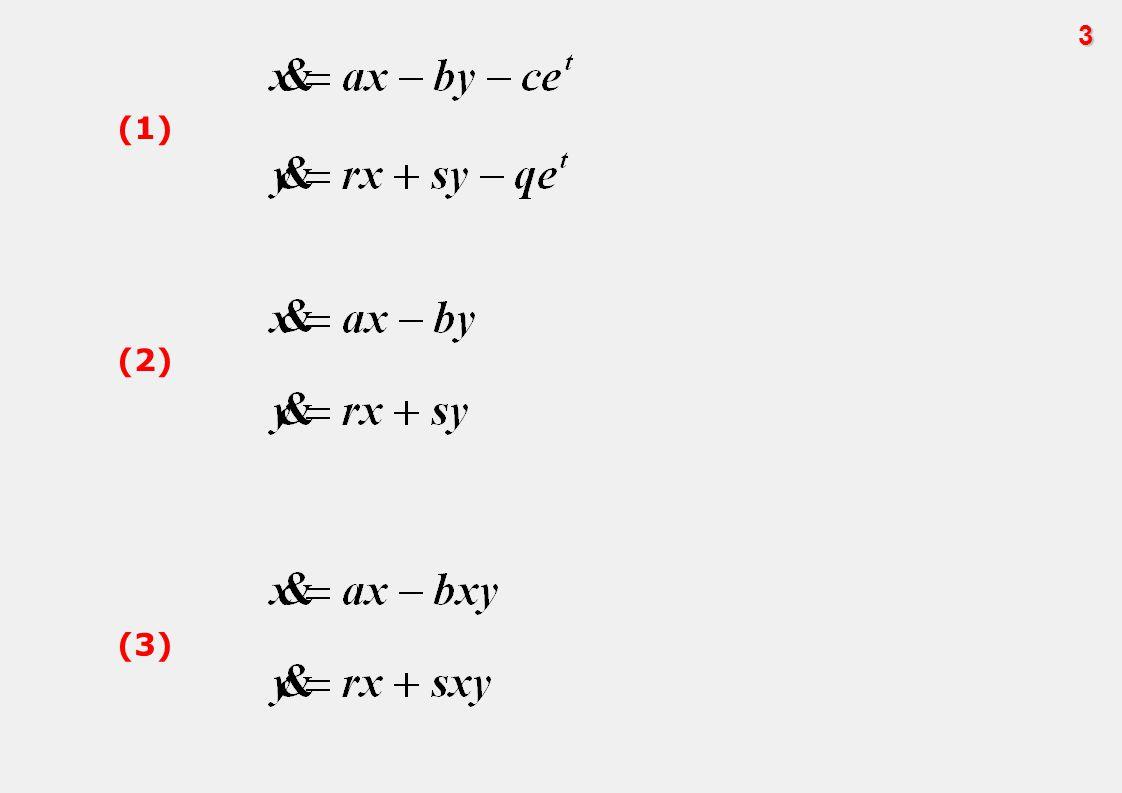 Yukarıda yer alan üç diferansiyel denklem sistemi de birinci sıradandır.