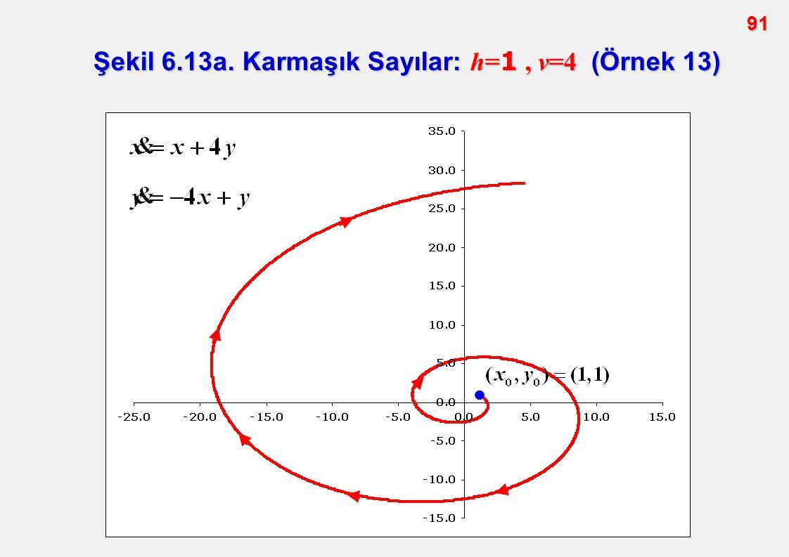 91 Şekil 6.13a. Karmaşık Sayılar: h= 1, v=4 (Örnek 13)
