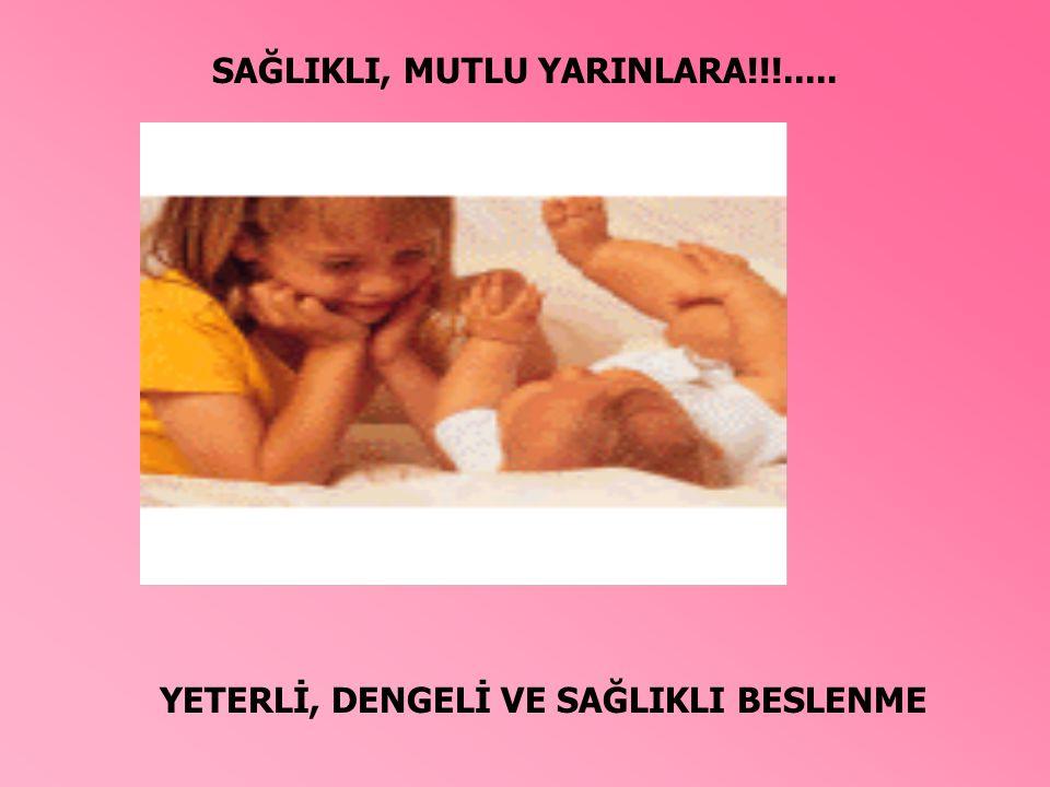 YETERLİ, DENGELİ VE SAĞLIKLI BESLENME SAĞLIKLI, MUTLU YARINLARA!!!.....