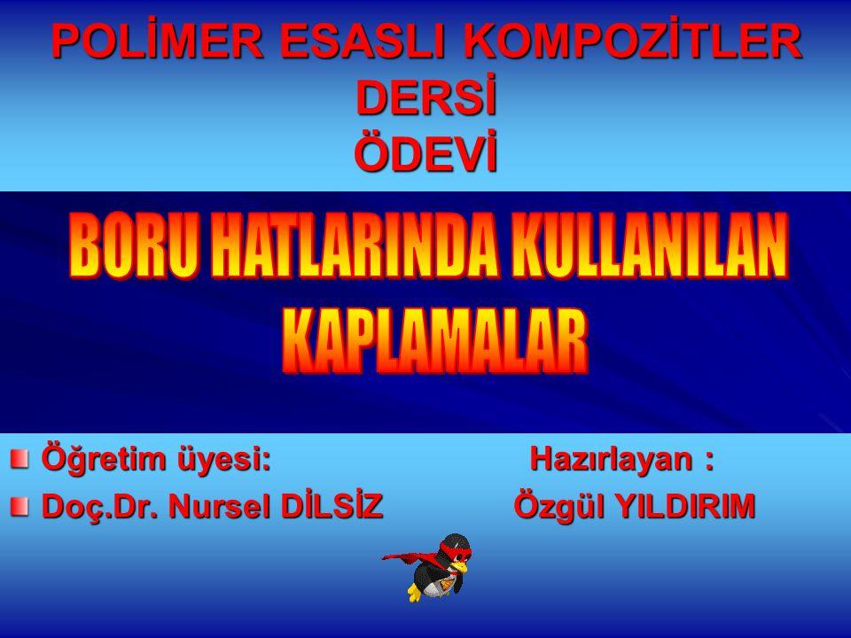 12.01.2015 Özgül YILDIRIM 42 PVC ve PE Kaplama