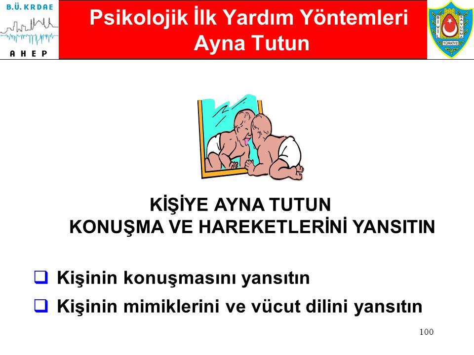 99 Psikolojik İlk Yardım Yöntemleri Kendinizi Tanıtın KENDİNİZİ TANITIN Adım Ahmet, Size Yardım için buradayım.