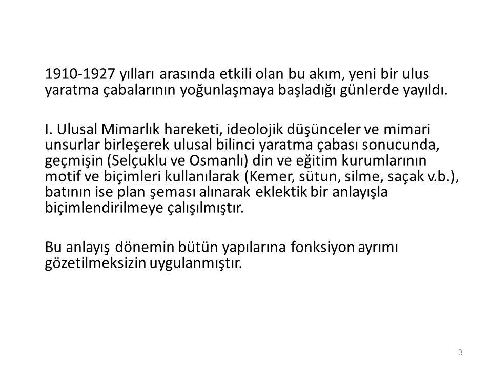 Sayıştay Binası ( ) Mimar Sayıştay Binası ( ) Mimar: Nazım Bey.