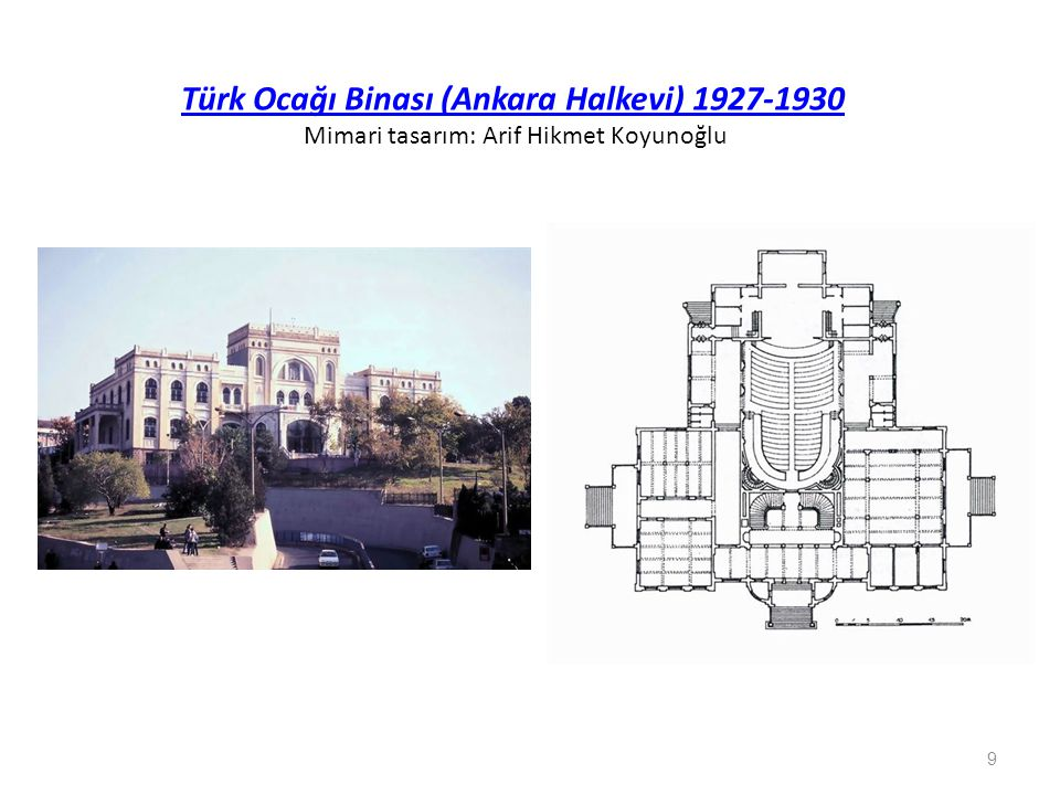 Mimari tasarım: Kemaleddin Bey İkinci Vakıf Apartmanları (1928- 30 ) Ulus- Ankara Mimari tasarım: Kemaleddin Bey 10
