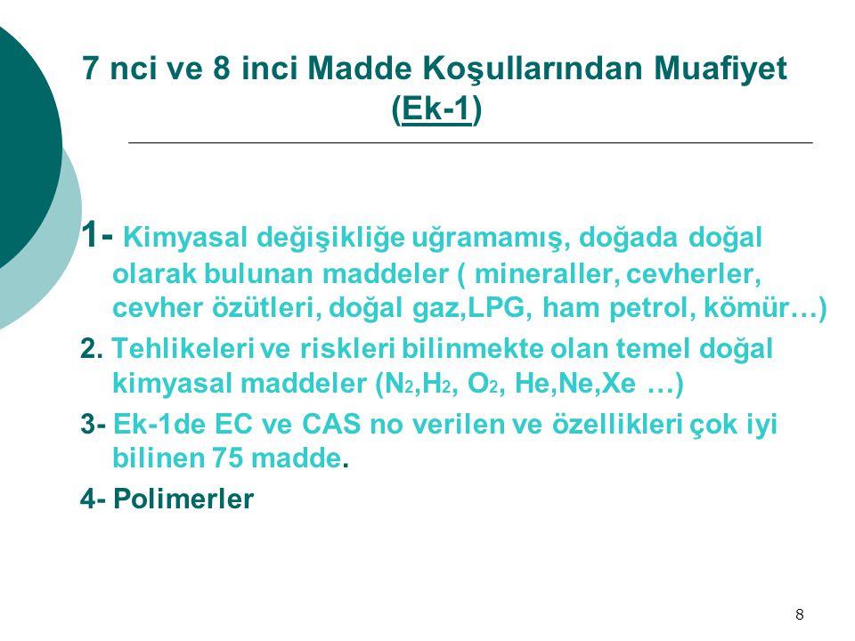 9 Veri sağlama Usulleri www.kimyasallar.cevreorman.gov.tr