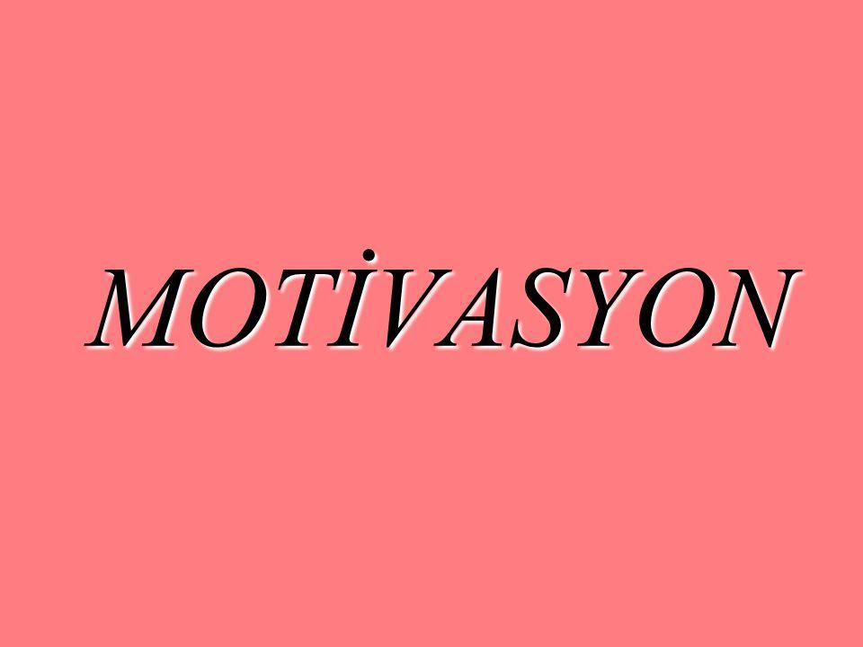 MOTİVE EDİCİ NİTELİKLERİ GELİŞTİRMEK: Bağlılık: Yüksek motivasyon, bir işe veya projeye kendini adama ve uzun – dönemli bağlılık şeklinde kendini gösterir.