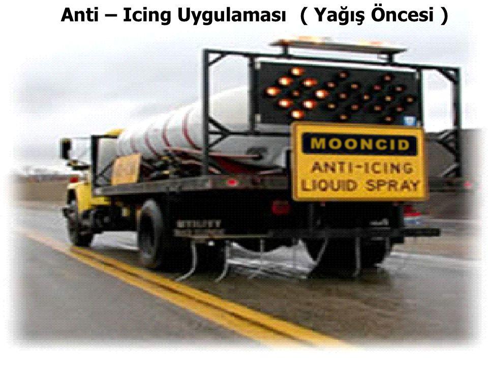 Anti – Icing Uygulaması ( Yağış Öncesi ) Anti – Icing Uygulaması ( Yağış Öncesi )