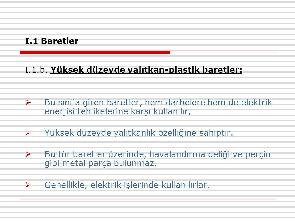 I.1 Baretler I.1.b.