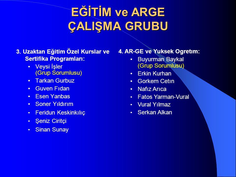 METODOLOJİ Her alt grup için, Türkiye'de Durum (Güçlü, Zayıf Yönler, Fırsatlar, Tehditler) Dünya'da Durum Hedef, Politika ve Strateji Önerileri Temel Fikir ve Proje Önerileri Ekler: Sayısal Veriler