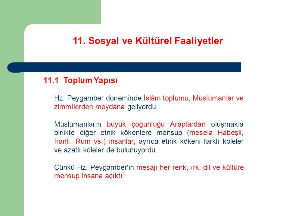 11.Sosyal ve Kültürel Faaliyetler 11.8 Çevre Hayvanların yavrularını bile düşünmüştür.
