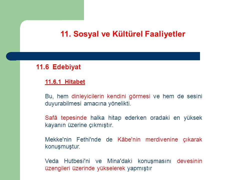 11. Sosyal ve Kültürel Faaliyetler 11.6 Edebiyat 11.6.1 Hitabet Bu, hem dinleyicilerin kendini görmesi ve hem de sesini duyurabilmesi amacına yönelikt