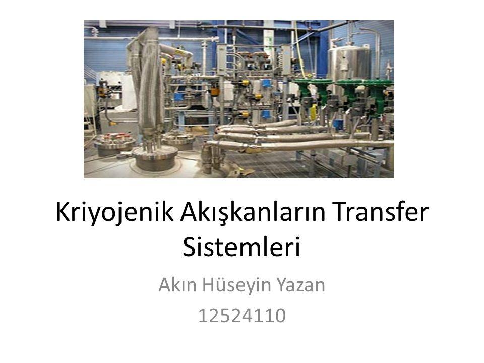 Kriyojenik Akışkanların Transfer Sistemleri Akın Hüseyin Yazan 12524110