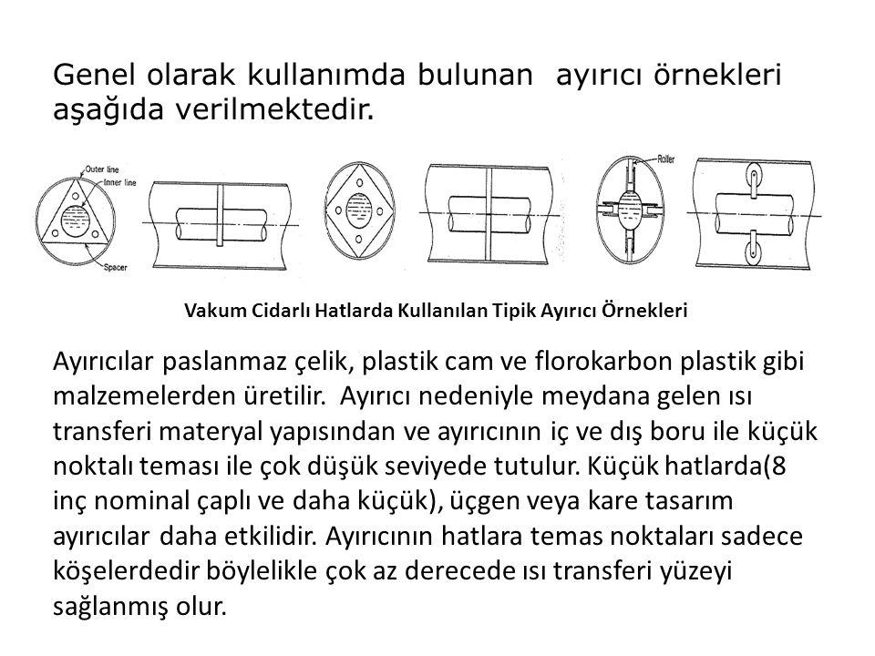 Genel olarak kullanımda bulunan ayırıcı örnekleri aşağıda verilmektedir. Ayırıcılar paslanmaz çelik, plastik cam ve florokarbon plastik gibi malzemele