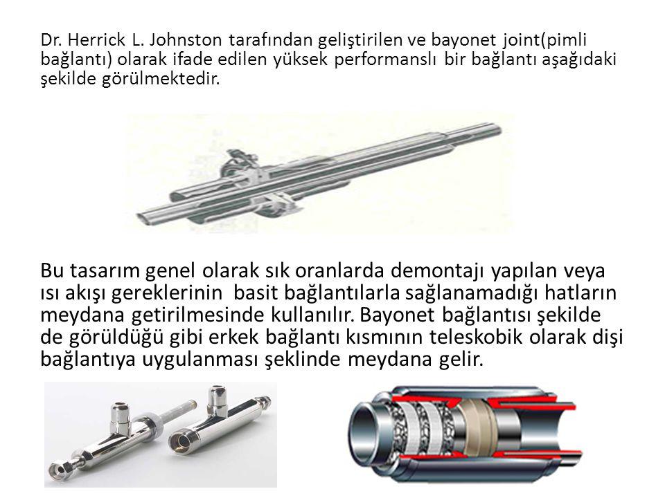 Dr. Herrick L. Johnston tarafından geliştirilen ve bayonet joint(pimli bağlantı) olarak ifade edilen yüksek performanslı bir bağlantı aşağıdaki şekild