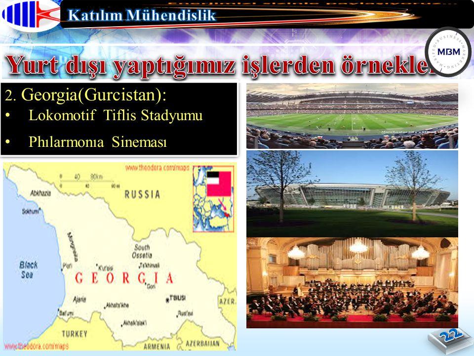 2. Georgia(Gurcistan): Lokomotif Tiflis Stadyumu Phılarmonıa Sineması 2.