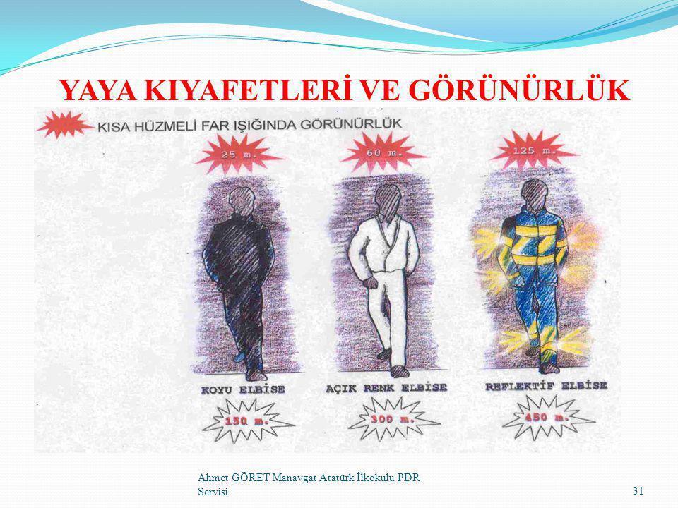 YAYA KIYAFETLERİ VE GÖRÜNÜRLÜK 31 Ahmet GÖRET Manavgat Atatürk İlkokulu PDR Servisi
