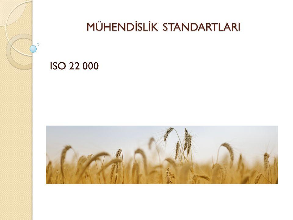 MÜHEND İ SL İ K STANDARTLARI ISO 22 000