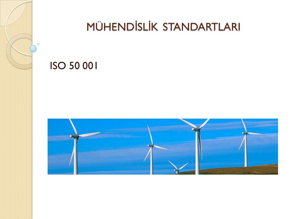 MÜHEND İ SL İ K STANDARTLARI ISO 50 001