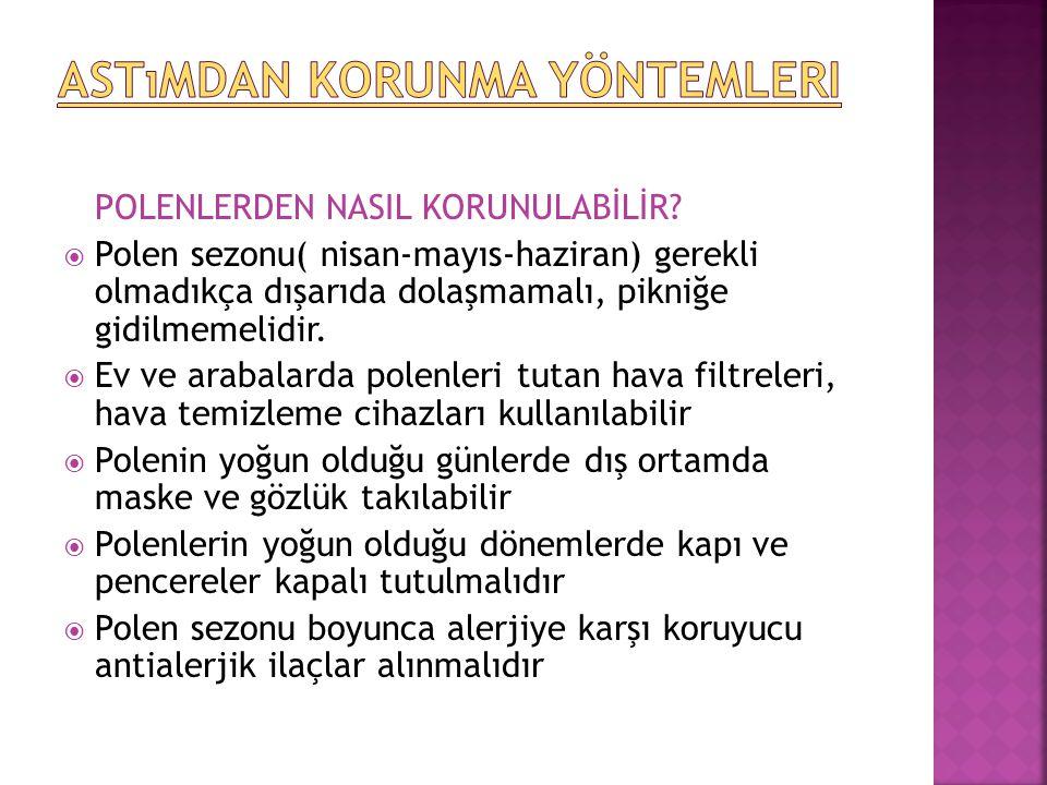 POLENLERDEN NASIL KORUNULABİLİR.