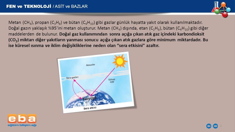 FEN ve TEKNOLOJİ / ASİT ve BAZLAR 14 Sanayi tesislerinin bacalarına filtre takılması sağlanmalı