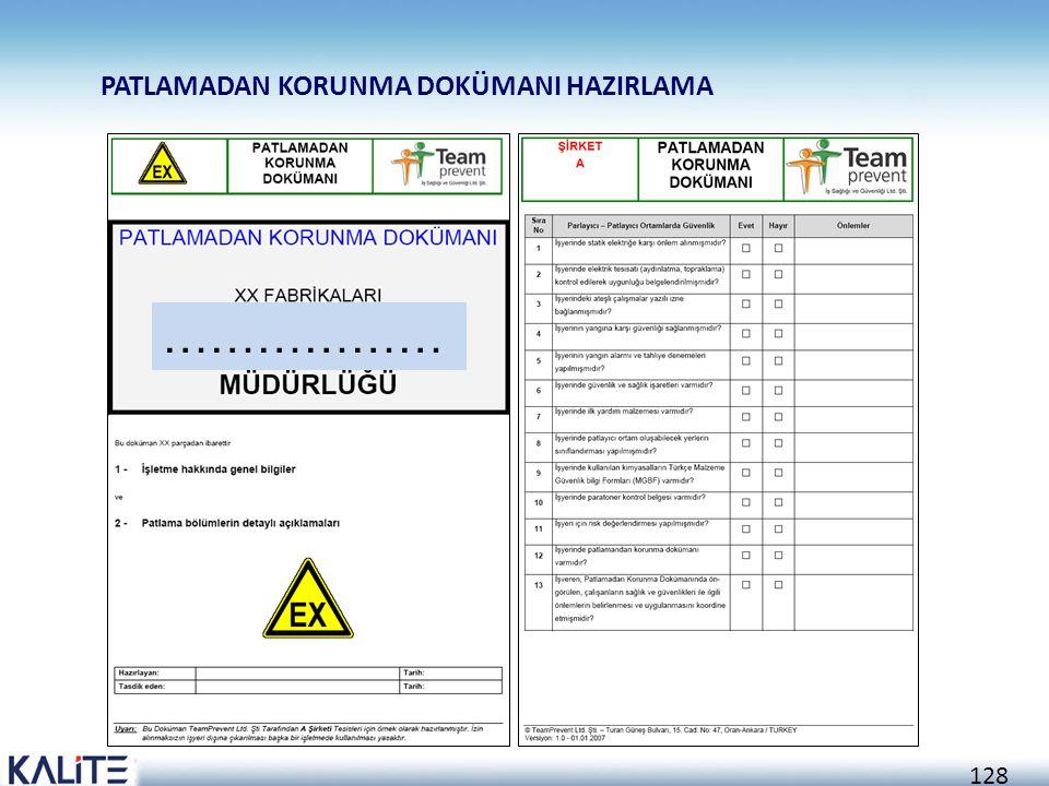 127 Sadece çalışma bölgesi (zone) belirlenmiş ve çalıştırılmasına izin verilmiş ekipmanları kullanınız Bozuk cihazları haber veriniz ve ehliyetli kişi