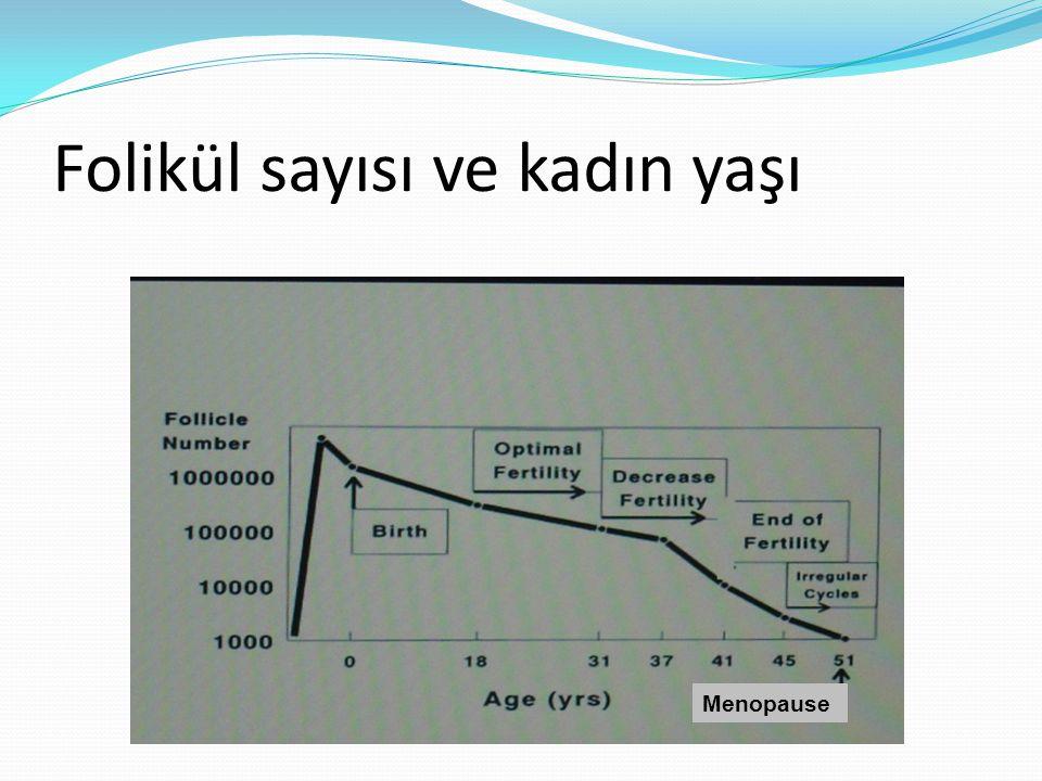 Folikül sayısı ve kadın yaşı Menopause