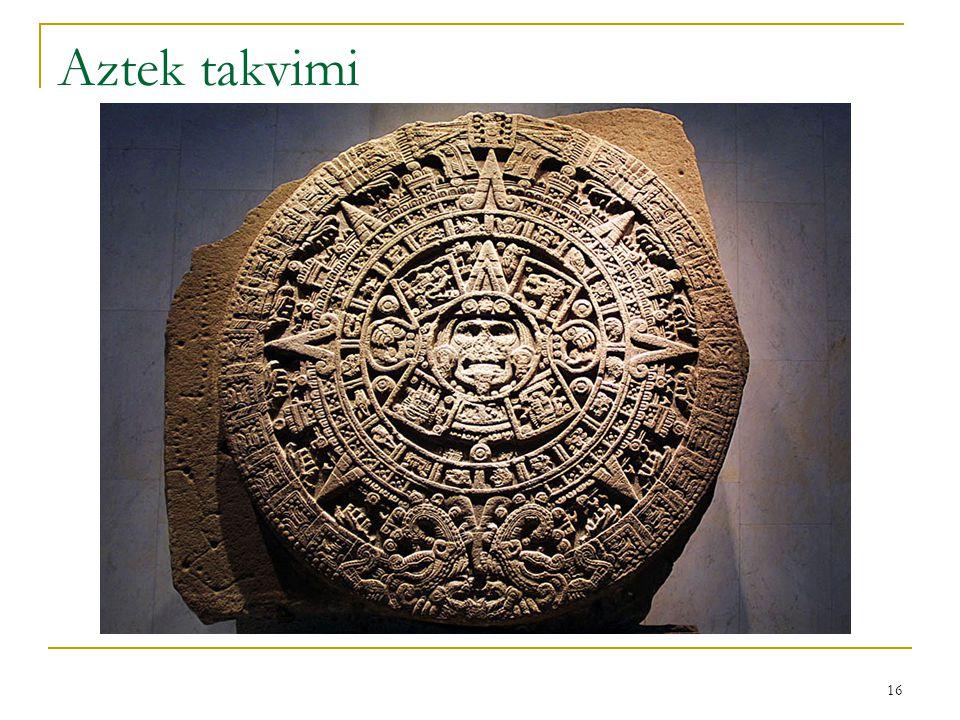 16 Aztek takvimi