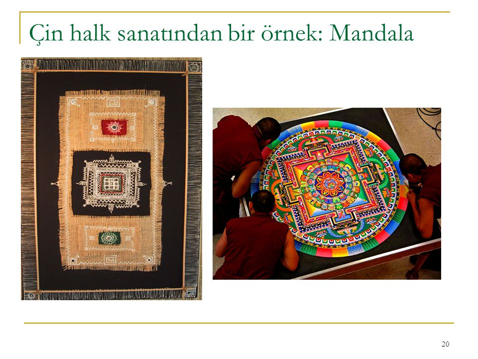 20 Çin halk sanatından bir örnek: Mandala