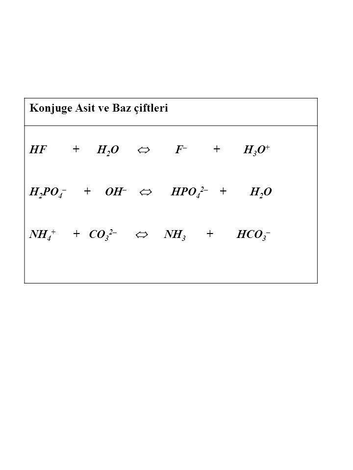 Lewis asit-baz Tanımı : Baz elektron çifti veren tür, Asit ise elektron çifti alan maddedir B + H +  B - H +