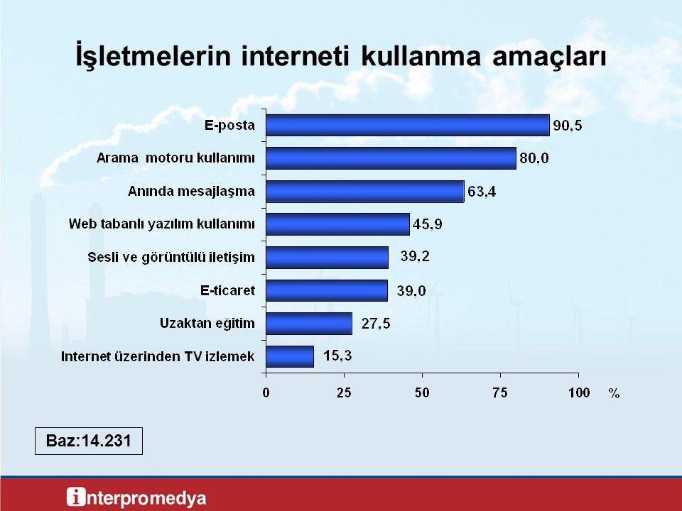 Nhmjv İşletmelerin interneti kullanma amaçları Baz:14.231
