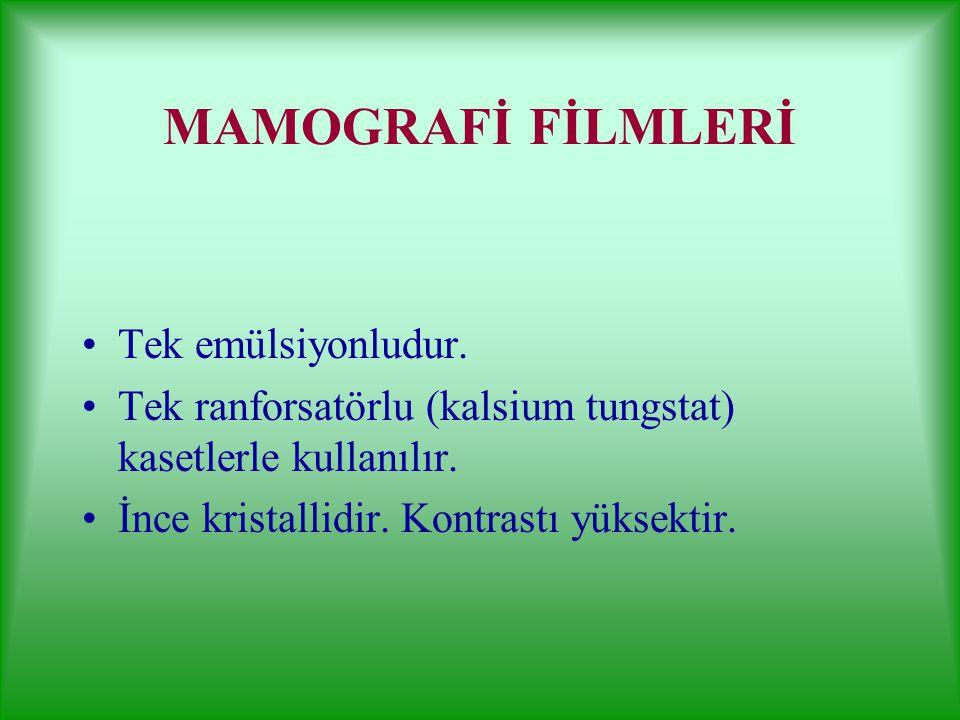 Dijital görüntülemede kullanılan filmler DRY (KURU) FİLM Görüntüler banyolama işlemine gerek kalmadan kaydedilir. Yüzeyleri karbon ile kaplıdır. Görün