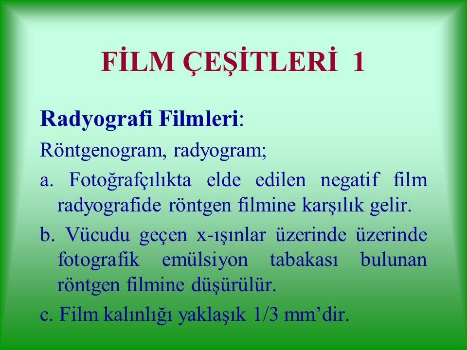 GÖRÜNTÜ ALICILAR 2 4. Selenyum plaklar: Kseroradyografide 5.Baryum halid kristalleri: Dijital luminesans radyografide 6. Fosfor plaklar: Dijital röntg