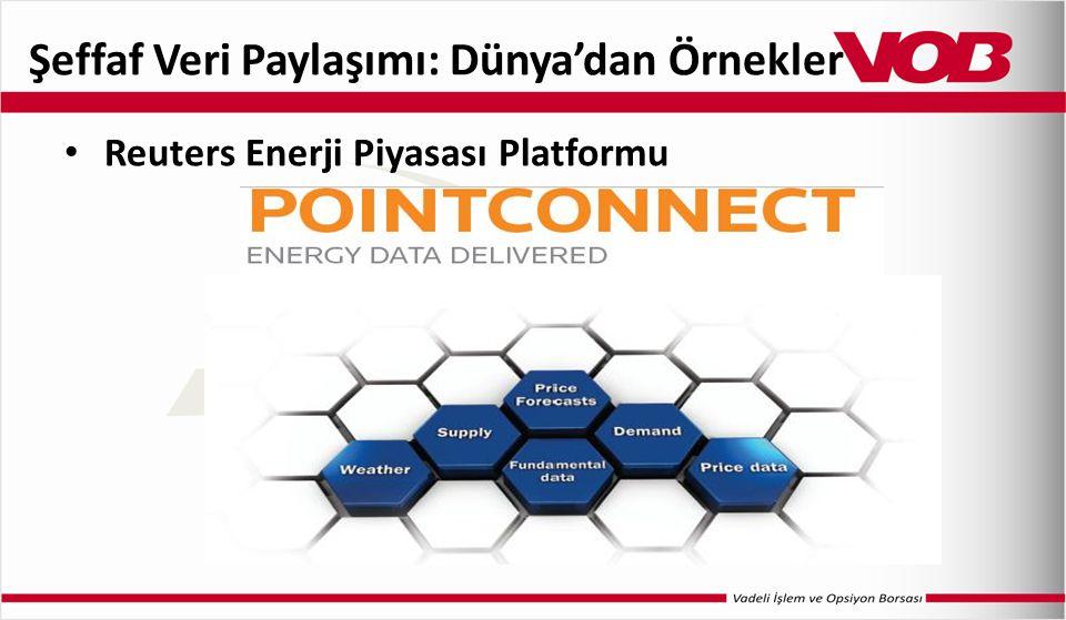 Şeffaf Veri Paylaşımı: Dünya'dan Örnekler Reuters Enerji Piyasası Platformu