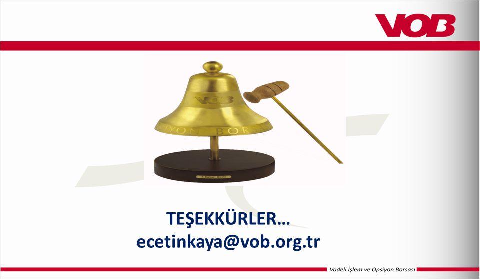 TEŞEKKÜRLER… ecetinkaya@vob.org.tr
