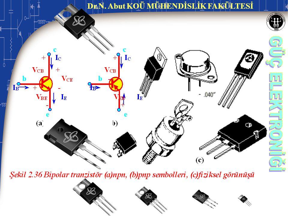 2.4.1 İki Kutuplu Eklem Tranzistörü (BJT:Bipolar Junction Transistor) BJT Tranzistörde uçlar; Baz (base), Emiter (emmiter) ve Kolektör (collector) diye isimlendirilirler.