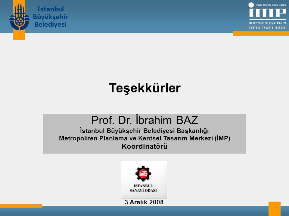 İstanbul Büyükşehir Belediyesi Teşekkürler Prof.Dr.