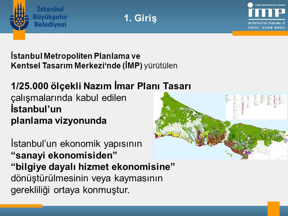 İstanbul Büyükşehir Belediyesi İstanbul Metropoliten Planlama ve Kentsel Tasarım Merkezi'nde (İMP) yürütülen 1/25.000 ölçekli Nazım İmar Planı Tasarı çalışmalarında kabul edilen İstanbul'un planlama vizyonunda İstanbul'un ekonomik yapısının sanayi ekonomisiden bilgiye dayalı hizmet ekonomisine dönüştürülmesinin veya kaymasının gerekliliği ortaya konmuştur.