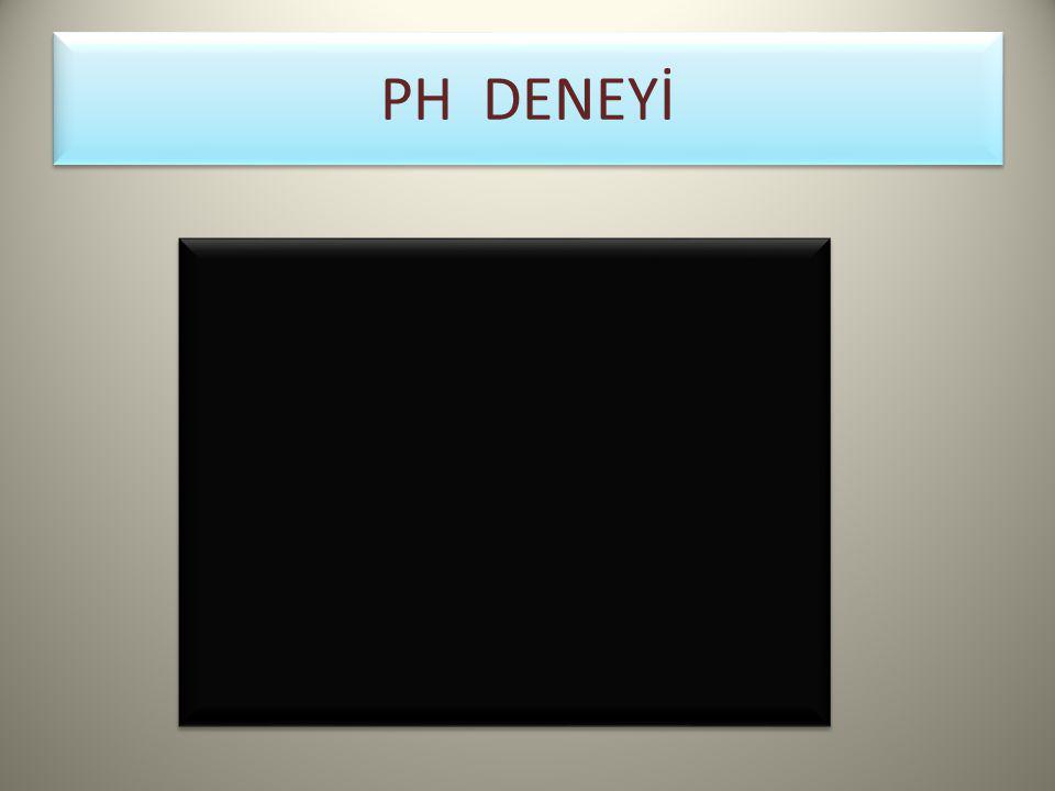 Ph ve POH Kavramı pH = –log[H + ] pOH = –log[OH – ] pH + pOH = 14 eşitlikleri yardımıyla bir çözeltinin [H + ] derişimi ya da [OH] derişimi bilinirse pH'ı ya da pOH'sı, pH'ı ya da pOH'ı bilinen bir çözeltinin [H + ] derişimi ya da [OH – ] derişimi bulunur.