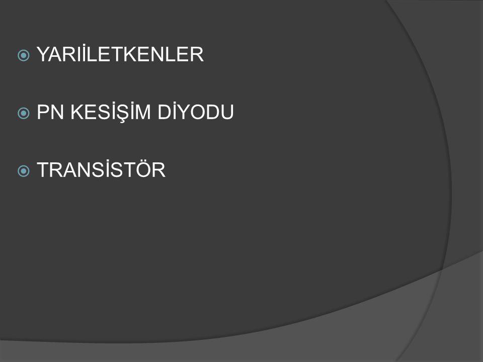  Transistör bir devrede kullanıldığında emetör- baz kesişimi yaklasık 6V luk bir dış voltaja düz bias yönünde bağlanırken, kolektör baz kesişimi 10V gibi çok güçlü bir ters bias voltajına bağlanır.