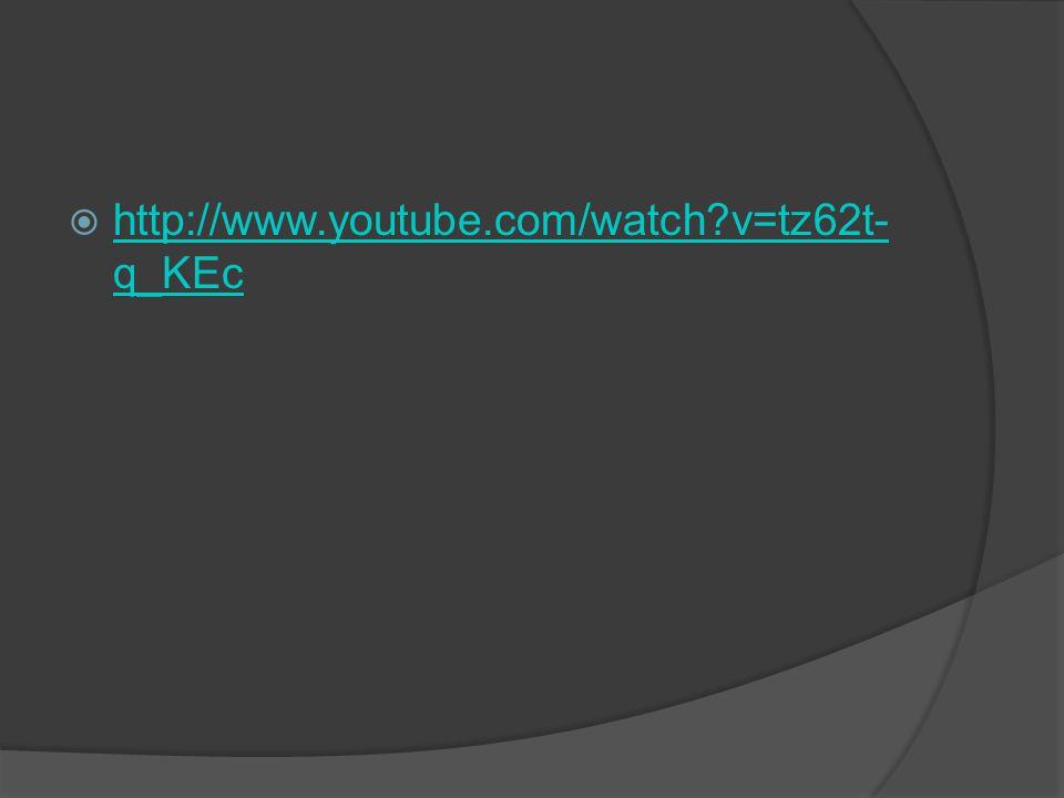  http://www.youtube.com/watch?v=tz62t- q_KEc http://www.youtube.com/watch?v=tz62t- q_KEc