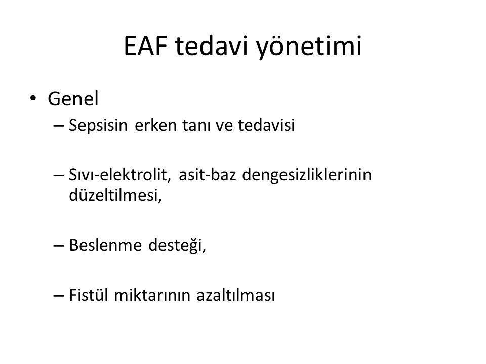 EAF tedavi yönetimi Yara bakımı – EAF hastalarında genelde en önemli morbiditelerden biridir.