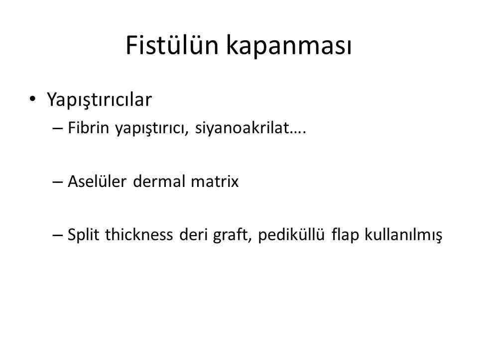 Fibrin yapıştırıcı ve alloderm Girard S,The American Journal of Surgery, (2002)