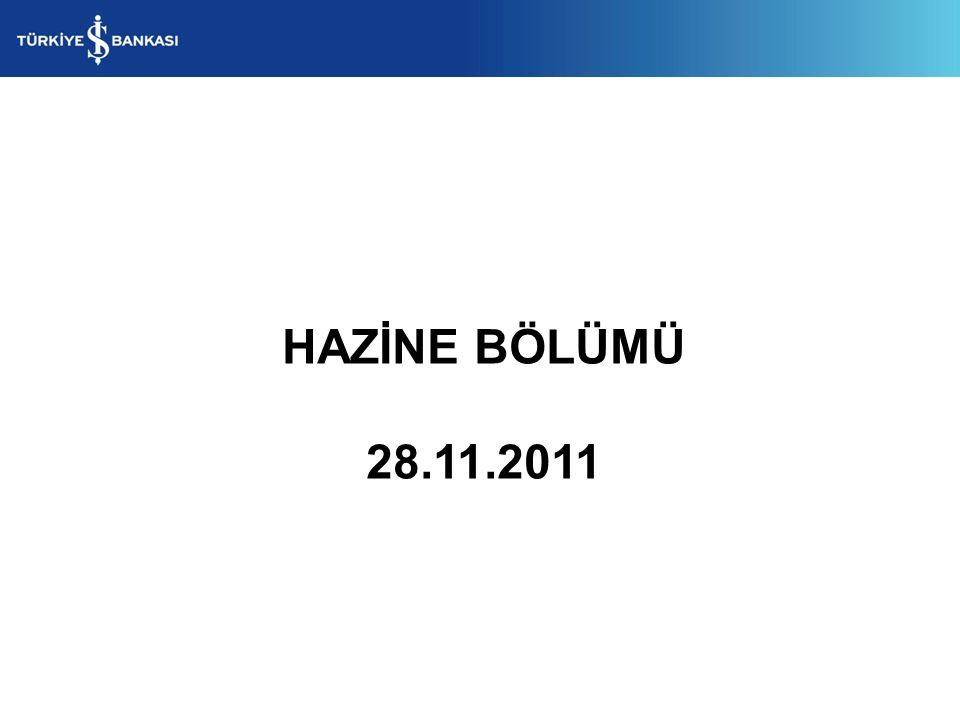 HAZİNE BÖLÜMÜ 28.11.2011